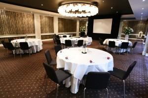 Photo of the Gala Room set up for a conference at Brighton Savoy