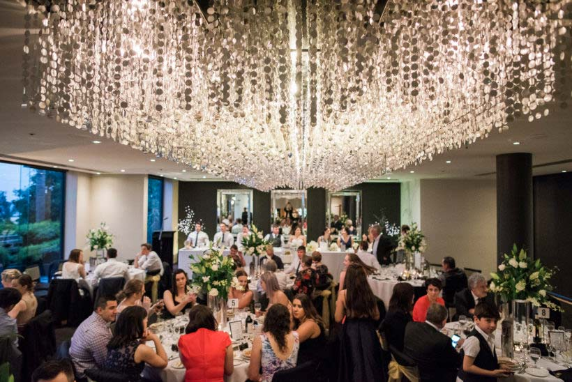Wedding reception at the Seaview Restaurant